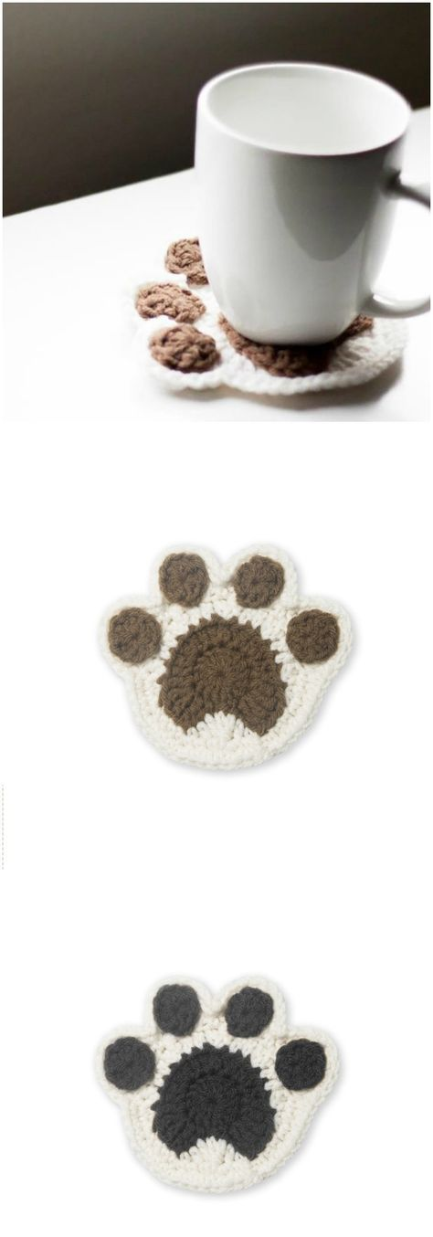Paw Coaster Crochet Pattern Free Crochet Coaster Patterns For Your Home