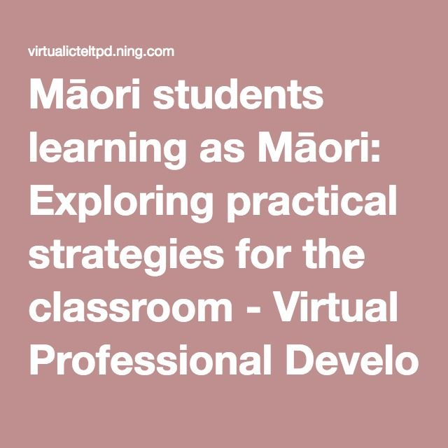 This is an excellent presentation from Janelle Riki on Māori students learning as Māori: Exploring practical strategies for the classroom. It gives clear guidelines and practical advice and examples relates to the 3 P's of the Treaty.