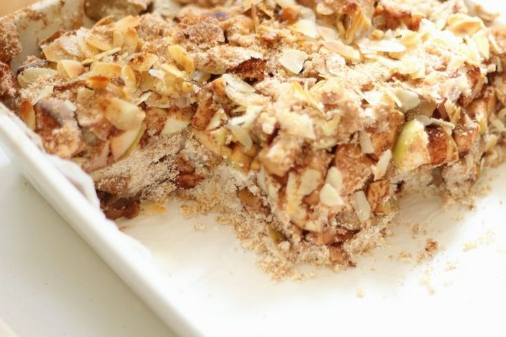 Kokosowa szarlotka sypana - dietetyczna