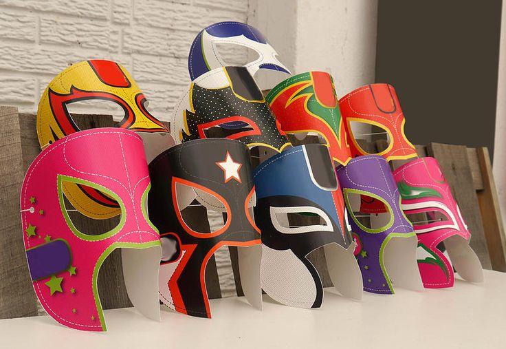 """Mascara de luchador """"Surtidas"""" (Paquete de 6)                              …"""