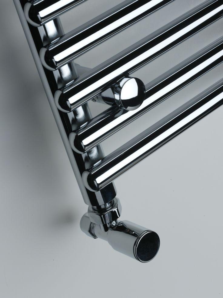 Polished designer towel rails from Simply Radiators.