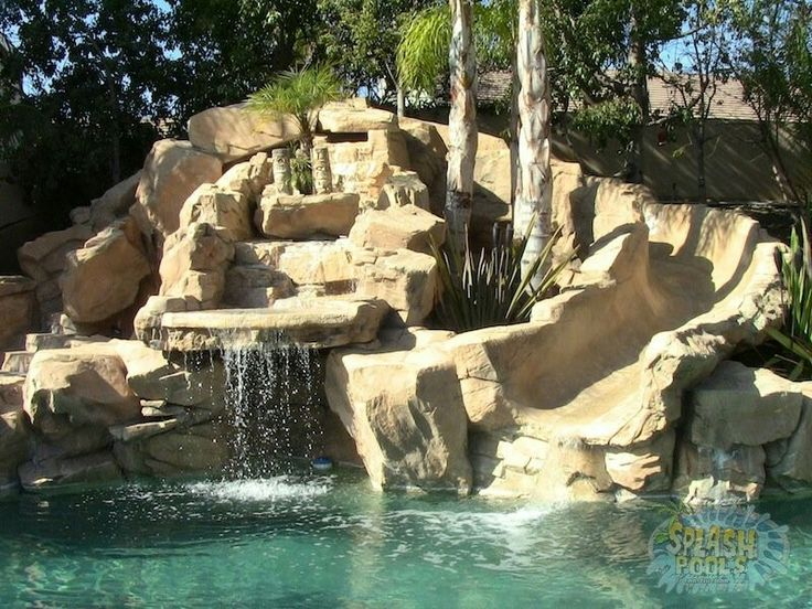 Inground Pools With Waterfalls And Slides 13 best pools images on pinterest | backyard ideas, backyard pools