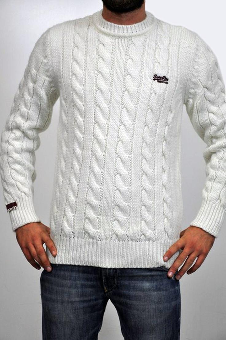 Superdry, maglia girocollo bianca