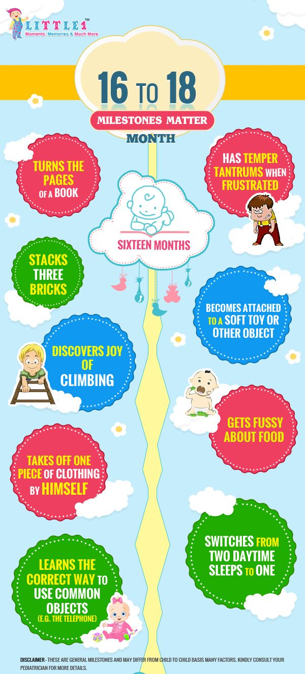 Milestones of 16month old baby