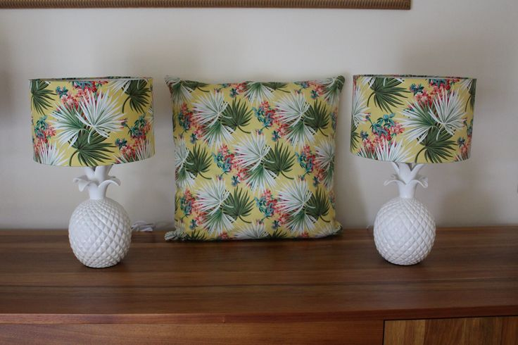Tropical cushion to accompany pineapple lamps. Perfect for bedroom wanting a bright lift!