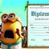 Diplomă școlară Minions