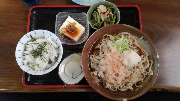 山菜定食(おろしそば & 山菜ご飯)@すいこう(福井県福井市)