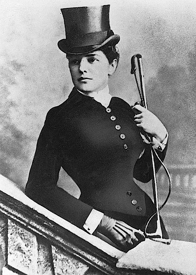 ca 1883-85 Jennie Churchill in riding habit