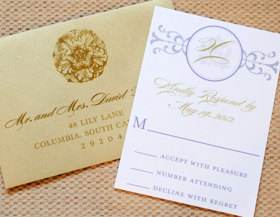 Vintage Blooms Wedding Invitation Suite with by WhimsyBDesigns, $4.99