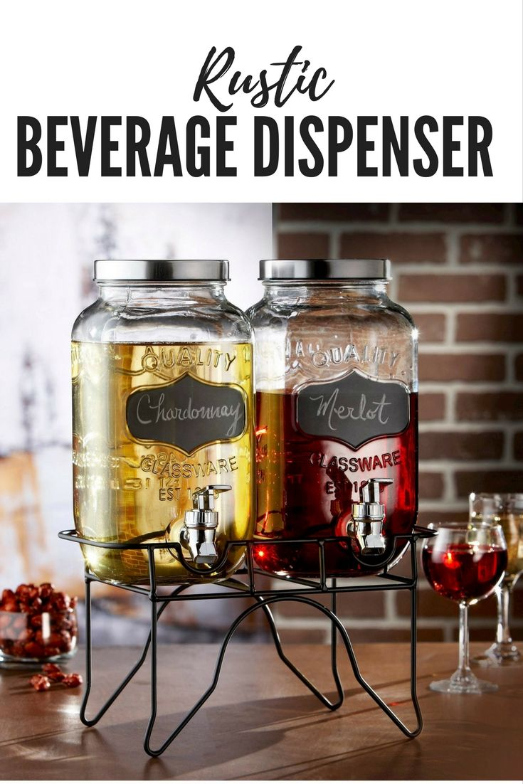 Perfect way to serve all your guests at any outdoor rustic wedding, holiday., birthday or BBQ's. They are fantastic for serving cold water, juice, or cocktails. Great for any occassion. #affiliate #rustic #beverage #dispensers #weddings #holidays #birthdays #decor #ideas