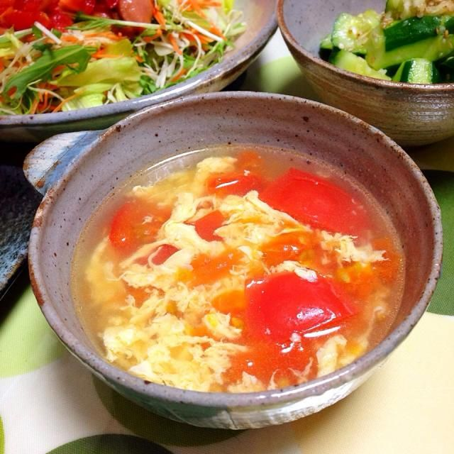 SDアプデしてから料理の選択肢がおかしくなったよな。 - 35件のもぐもぐ - ヘビロテやな。トマトと玉子の中華スープ。 by usaG