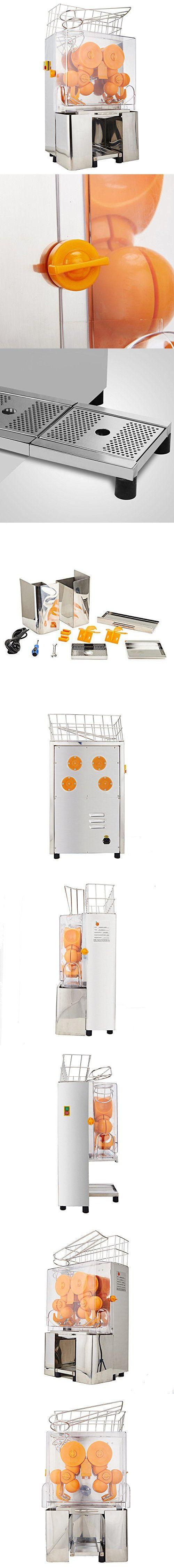 Superland Orange Juice Machine Commercial 120W Orange Juicer Auto Feed 22-30 Oranges per Minute Commercial Juicer Machine Stainless Steel Case (22-30 Oranges per Minute)