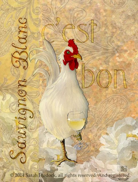 Art print: Sauvignon Blanc © 2014 Sarah Hudock, all rights reserved. And registered.