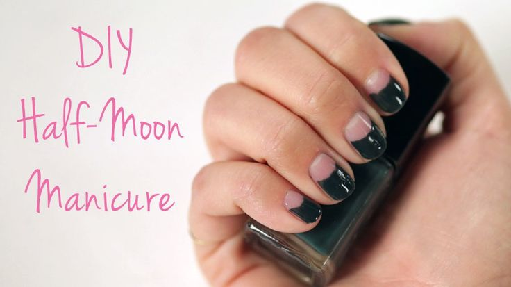 Nail a Half-Moon Manicure With This Easy DIY Trick: The half-moon manicure was seen all over the Fall 2014 runways, and since we love being ahead of the trend, we wanted to know how to get the look now.