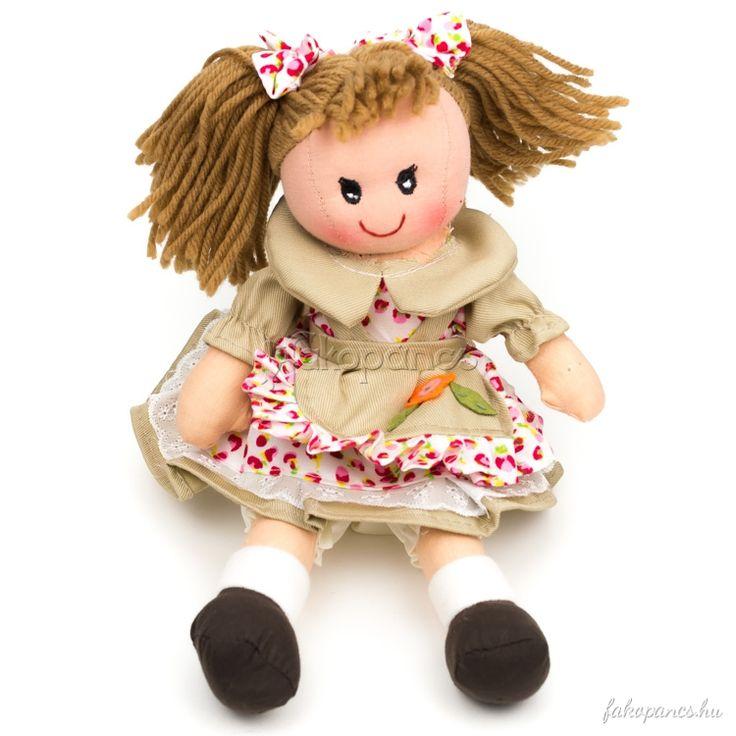 Szerepjátékok :: Rongybabák :: Rongybaba (lány, krém, virágos, 25 cm) - Fajáték és Játékbolt - Online Játékbolt - Játék Webáruház!