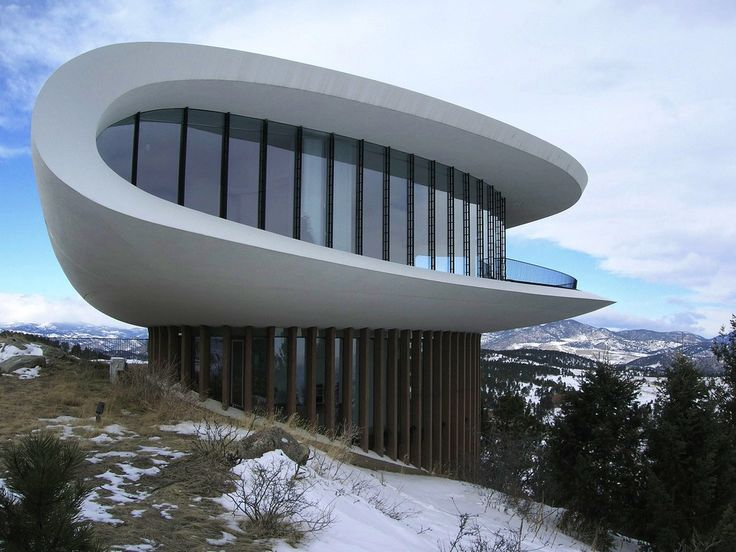 Sculptured House Genesee Mountain, Jefferson County, Colorado by Charles Deaton 1963