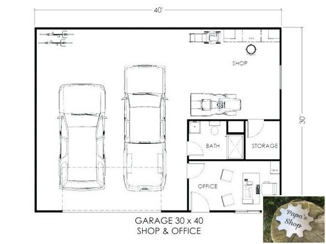 Buildings And Plans For Garage Shop Garageshop Homeworkshop Hobbygarage Garage Workshop Plans Garage Floor Plans Garage Workshop Layout