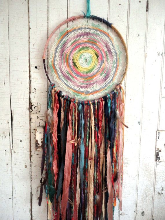 DREAMCATCHER Bohemian Gypsy Recycled Silk Vintage by TnBCdesigns