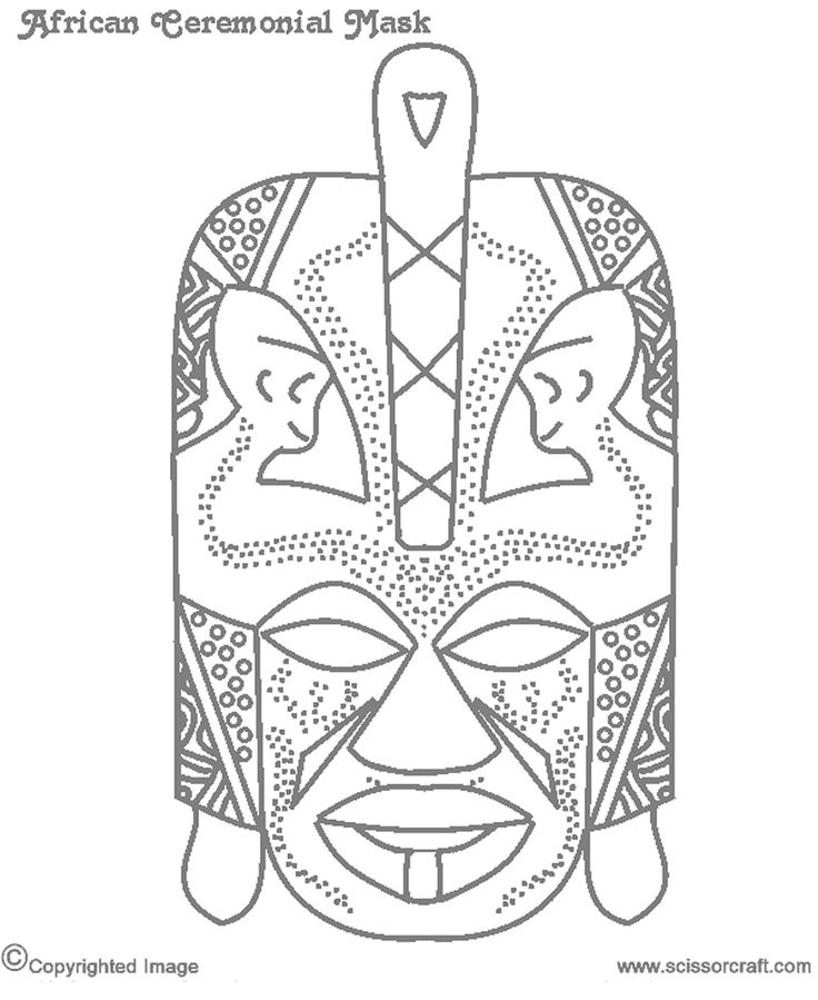 820 best Coloring Printable Masks images on Pinterest