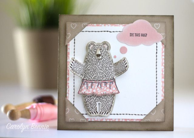Bear Hugs stamp set and co-ordinating framelits - Occasions Catalogue Stampin' Up! 2016- Carolyn Bennie -Independent Stampin' Up! Demonstrator. Adelaide, South Australia - carolynbennie.com