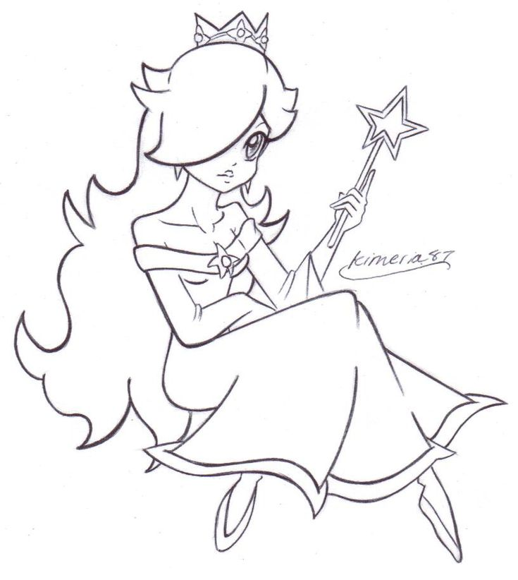 lovely rosalina free lines by kimeria87deviantartcom on deviantart colouring pagesmjcoloring
