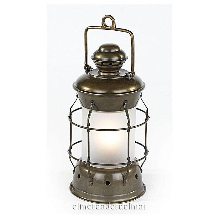 Lámpara náutica de fondeo en latón
