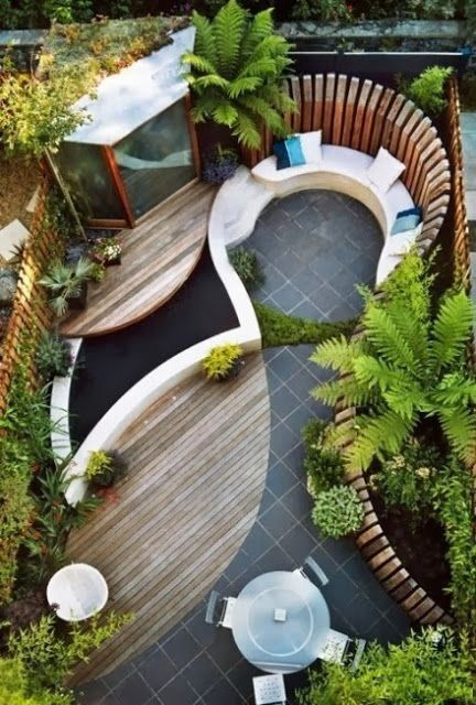 small backyard idea the only thing i would add is a fire pit