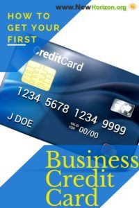 how to get your first business credit card