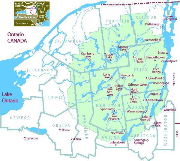 Best Adirondack Heaven Images On Pinterest Adirondack - Adirondack mountains on us map