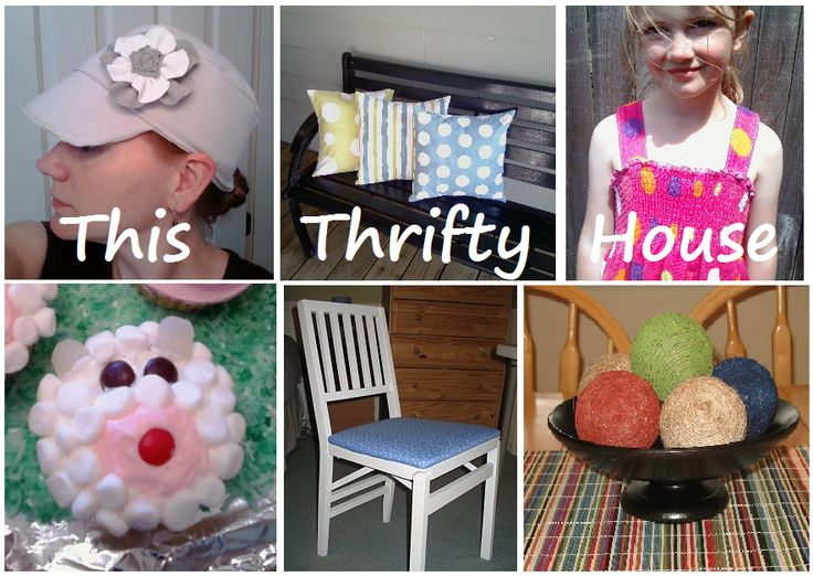 This Thrifty House; awesome ideas from faux tile back splash to iron on wall art and spray paint pillows  I LOVE THIS!