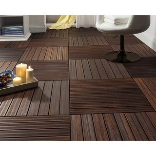 Envi 1x2-foot Solid Fused Bamboo Deck Tiles (Pack of 4) | Overstock.com Shopping - Big Discounts on Decking