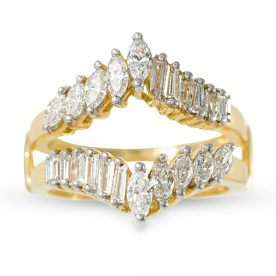 1 CT. T.W. Marquise Diamond Solitaire Enhancer in 14K Gold - Zales