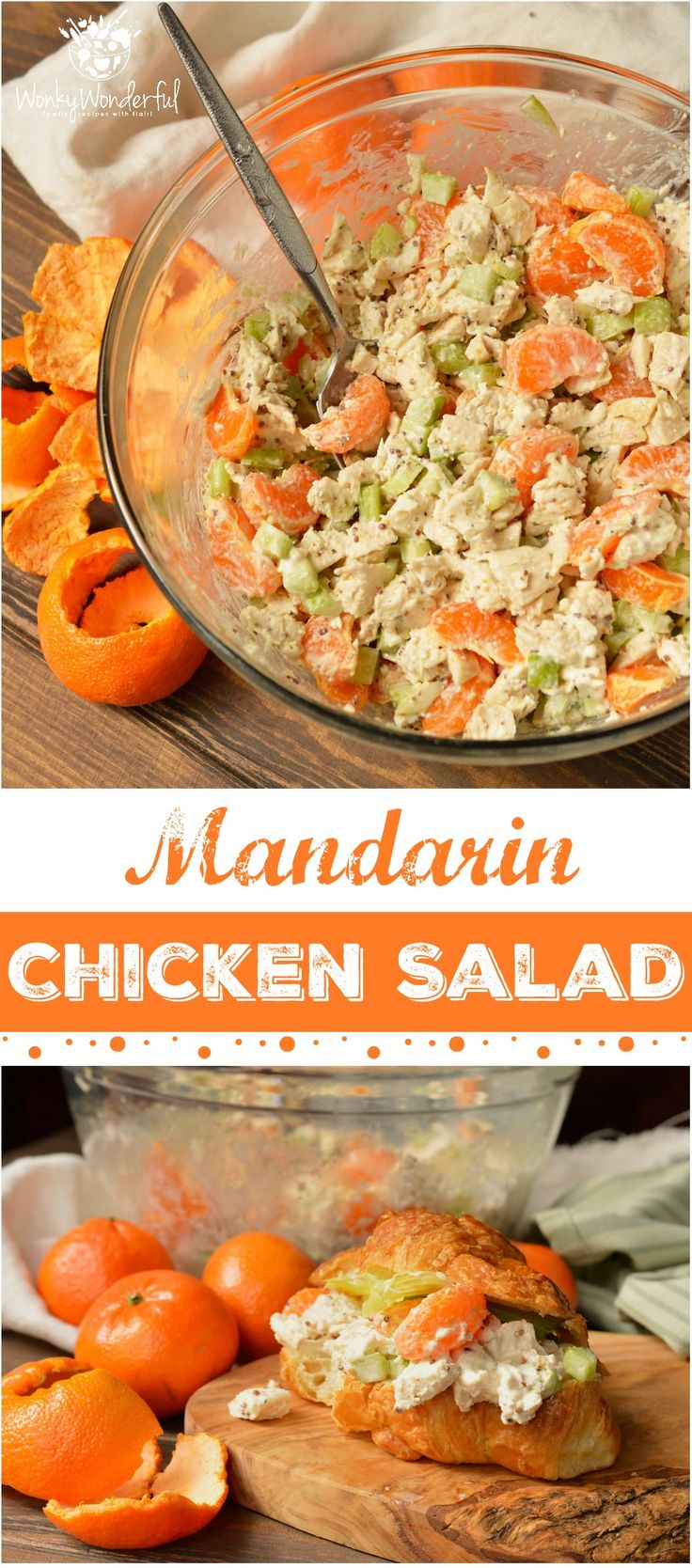 Take a break from boring old chicken salad and make this Mandarin Orange Chicken Salad Recipe. The tangy dijon mustard and sweet mandarin oranges take this chicken salad to the next level! With just 5 ingredients this makes a great nutritious lunch or din (mini fruit tarts filling)