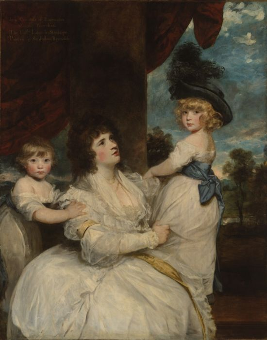 The Athenaeum - Portrait of Jane, Countess of Harrington, with her Sons (Sir Joshua Reynolds - )