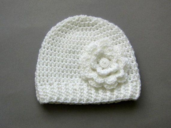 Crochet beaniebaby girl beaniecrochet hat by Amaiahandmade on Etsy