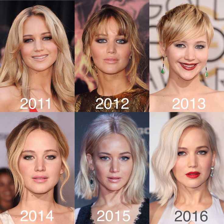 Jennifer Lawrence through the years.