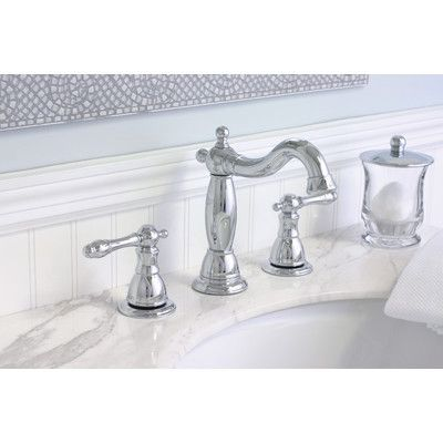Premier Faucet Charlestown Widespread Bathroom Faucet with Double Handles Finish: PVD Brushed Nickel