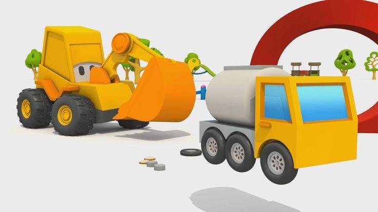 Cartoni Animati per bambini - Max l'escavatore - Come si fa un'autobotte?