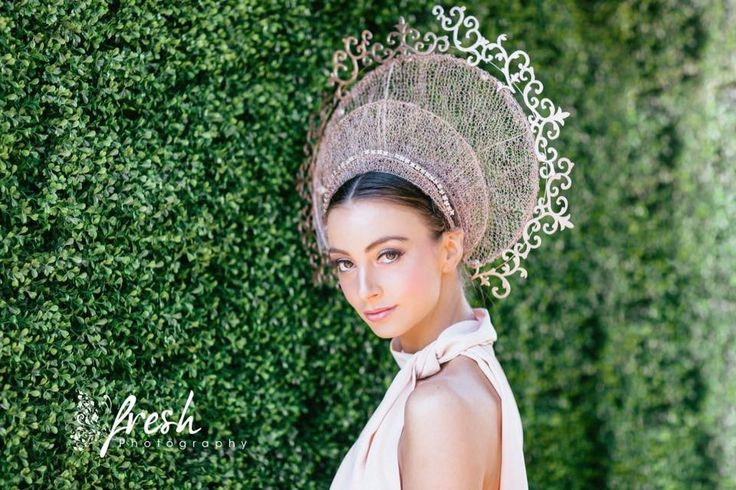 Lisa Bell's entry to the Myers Millinery Award 2016 on Oaks Day