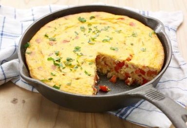 RED PEPPER & ONION FRITTATA | food | Pinterest