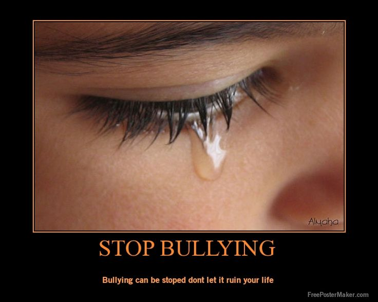 End bullying now repin and like if you agree