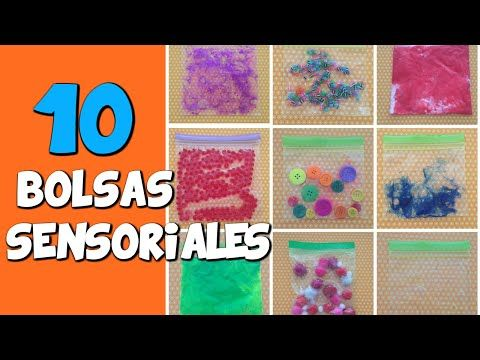 10 Bolsas sensoriales   Psicomotricidad fina y estimulación sensorial - YouTube