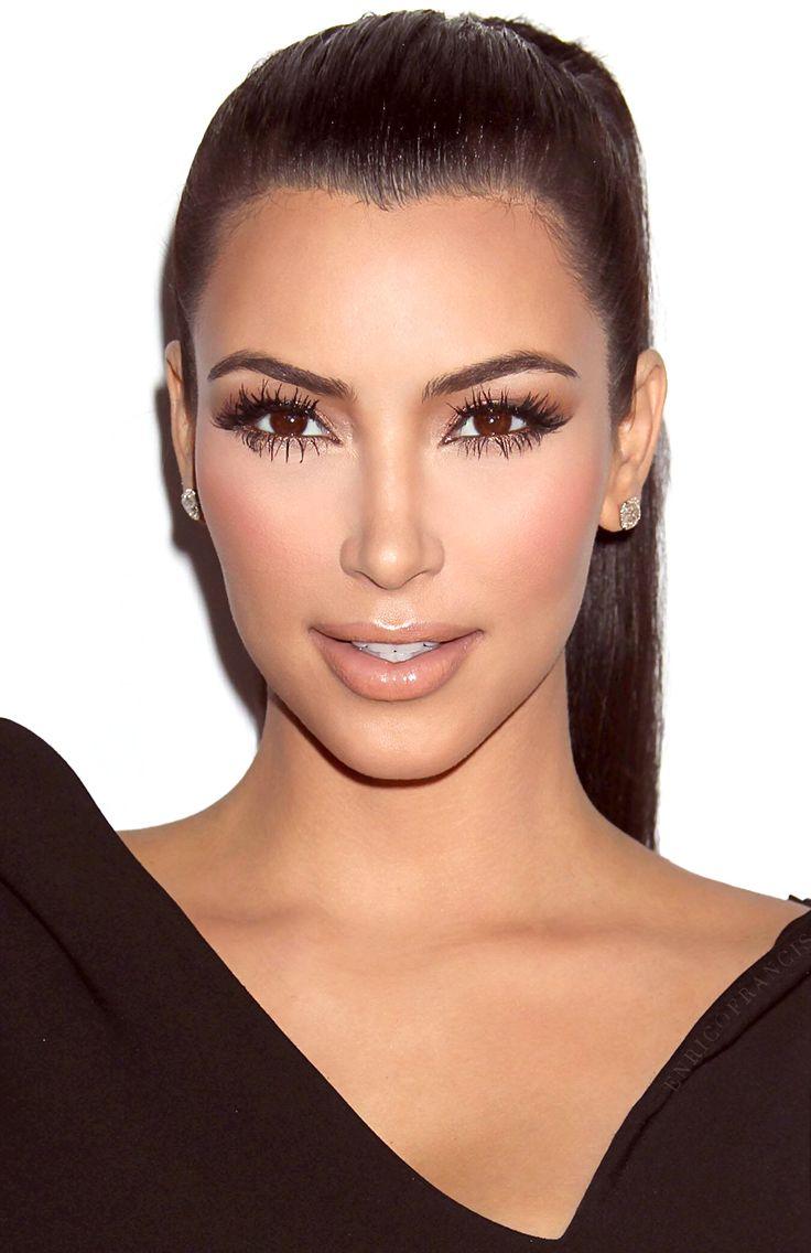 Kim Kardashian  Love The Makeup With Highlighting And Contouring