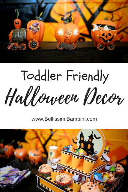 Toddler Friendly Halloween Decor! Bellissimi Bambini: Our Toddler Friendly Halloween Trick-or-Trick Station