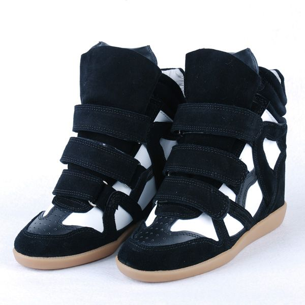 Womens High Heels Isabel Marant Toile Bekett Hidden Wedge Sneakers Black 6 Heels Clearance sale