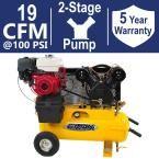 Industrial Plus Series 17 Gal. 8 HP Truck Mount Portable Gasoline Air Compressor