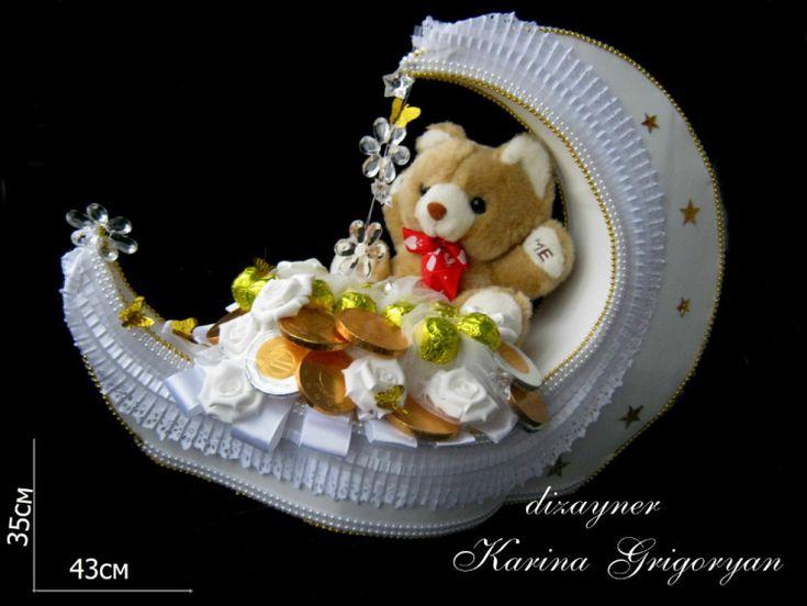 """Gallery.ru / Конфетная композиция на крестины""""Луна"""" - Для новорожденных…"""