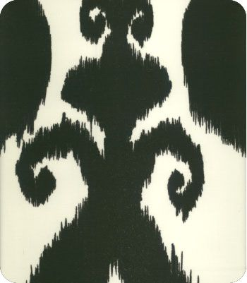 Iskander Black Ikat Fabric: Option For Dining Chairs