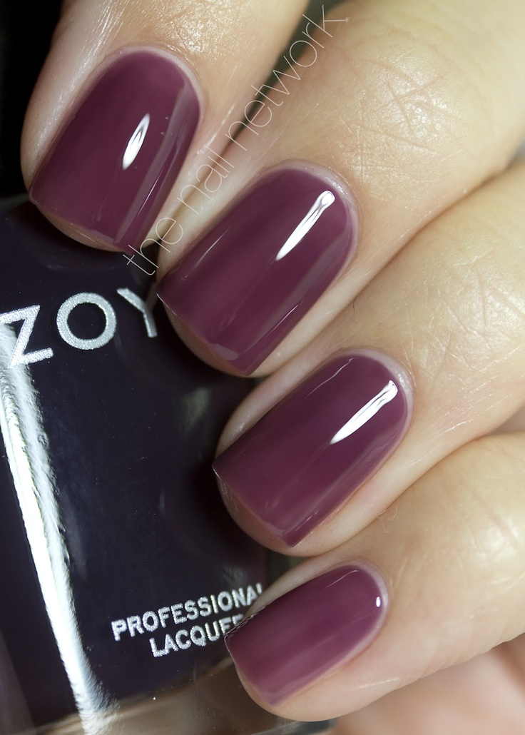 Zoya Katherine - love this shade.  And I usually don't like dark purples or plums so much.  Wow ...