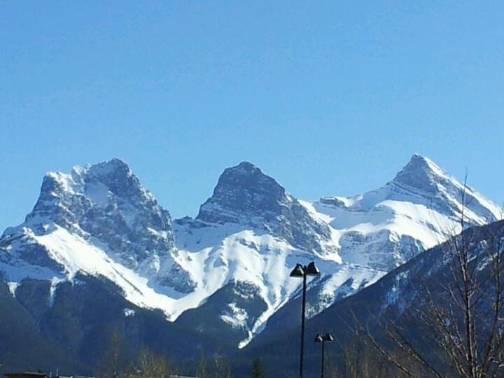Canmore Alberta Canada Three Sister Mountain Mountains